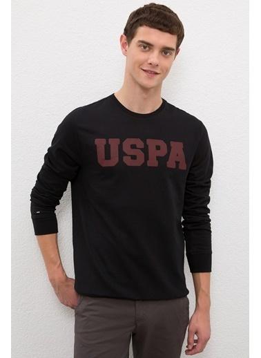 U.S. Polo Assn. US Polo ASSN Erkek Sweatshirt G081SZ082 1082453 G081SZ082 1082453001 Siyah